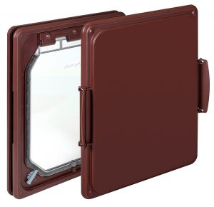 W-DDB Wood Fitting Dog Door Brown