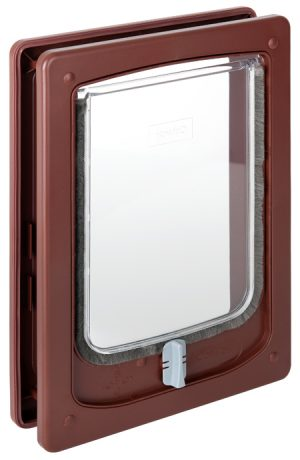 W-SDDTB Wood Fitting Small Dog Door Tunnel Brown