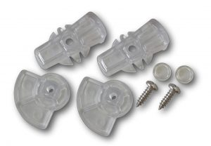 G-LDDDC Glass fitting dog door locking dial set clear