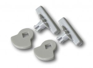 G-LDSDDW Glass fitting maxi locking set white